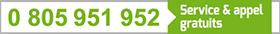 Numéro vert 0 805 951 952